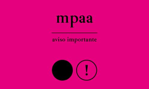 Aviso importante MPAA